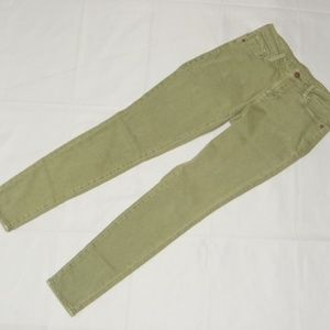 Women's Mid-Rise Super Skinny Jeans Olive Size 2